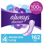 Always Discreet Moderate Long Incontinence Pads