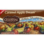 Celestial Seasonings Herbal Tea, Caramel Apple Dream, Tea Bags, Caffeine Free