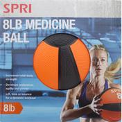 Spri Medicine Ball, 8 Lb