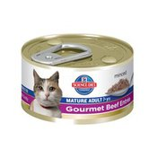 Hill's Science Diet Cat Food, Minced, Mature Adult (7+ Years), Gourmet Beef Entr�e