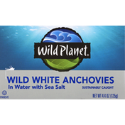 Wild Planet Wild White Anchovies, In Water with Sea Salt