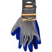 Cordova Coated Gloves, Crinkle Latex, Large