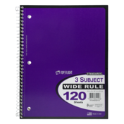 Standards 3-Subject 120 Page Writing Notebook