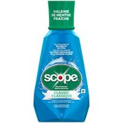 Scope Classic Cool Peppermint Mouthwash, 1 L Oral Rinse
