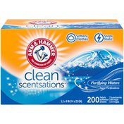 Arm & Hammer Fabric Softener Sheets, Purifying Waters, 200 Ct