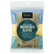 Essential Everyday Microfiber Cloths, Multi-Use, 3 Pack
