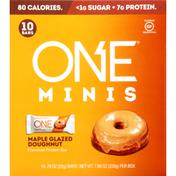 One Protein Bar, Maple Glazed Doughnut Flavored, Minis, 10 Pack
