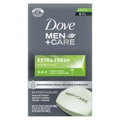 Dove 3 In 1 Cleanser For Body, Face, And Shaving Extra Fresh