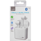 iLive Earbuds, Truly Wire-Free, White
