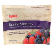 Hy-Vee Freshly Frozen Unsweetened Berry Medley Strawberries, Blackberries, Blueberries & Raspberries