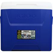 Igloo Cooler, Laguna Roller, Blue, 28 Quarts