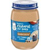 Gerber Natural for Baby Grain & Grow Apple Cinnamon Oatmeal Baby Food