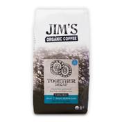 Jim's Organic Coffee Together Decaf, Medium Dark, Whole Bean Coffee