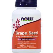 Now Grape Seed, 60 mg, Veg Capsules