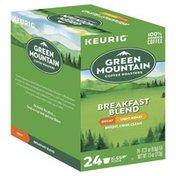 Green Mountain Coffee, 100% Arabica, Light Roast, Breakfast Blend, Decaf, K-Cup Pods