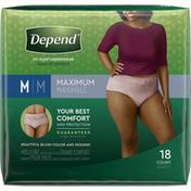 Depend Incontinence Underwear for Women, Maximum Absorbency