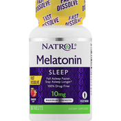 Natrol Melatonin, Sleep, Maximum Strength, 10 mg, Tablets, Strawberry