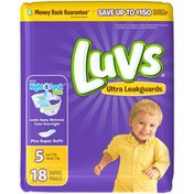 Luvs Ultra Leakguards Diapers Size 5 18 count Diapers