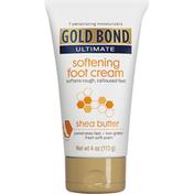 Gold Bond Foot Cream, Softening, Shea Butter