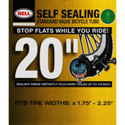 Bell Bicycle Tube, Standard Valve, Self Sealing, 20 inches