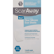 ScarAway Scar Sheets, Clear Silicone