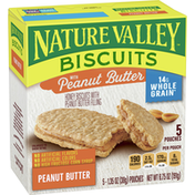 Nature Valley Biscuits with Peanut Butter, 5 Count