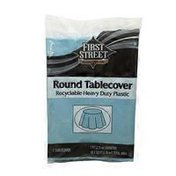 First Street Pastel Blue Round Table Cover