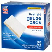 Rite Aid Porous Sterile Pads, All One Size, 25 pads
