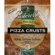 Pastorelli Pizza Crust, Ultra Thin & Crispy, Roman Pizzeria Style, 100% Whole Wheat