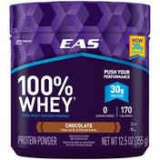 EAS Chocolate EAS 100% Whey Protein Powder Chocolate Powder Canisters