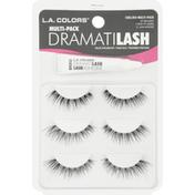 L.A. Colors False Eyelash Kit, Dramatilash, Multi-Pack