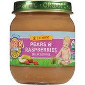Earth's Best Stage 2 Pears & Raspberries Organic Baby Food