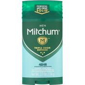 Mitchum Antiperspirant & Deodorant, Triple Odor Defense, Men