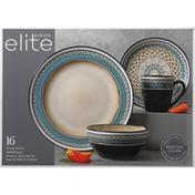 Gibson Elite Dinnerware Set, Stoneware, Amberdale