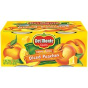 Del Monte Diced Yellow Cling in 100% Fruit Juice Peaches