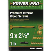Power Pro Wood Screws, Interior, Premium