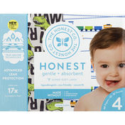 The Honest Company Diapers, Size 4 (22-37 Pounds), Trains/T-Rex
