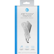 AT&T Trimline Telephone, with 13 Number Memory