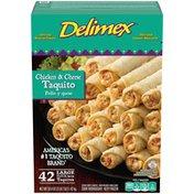 Delimex Chicken & Cheese Large Flour Taquitos Frozen Snacks