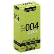 Okamoto Condoms, Male Latex, Aloe, Almost Nothing 004