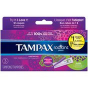 Tampax Radiant Tampax Radiant Plastic Super Absorbency Tampons 3 Count Feminine Care