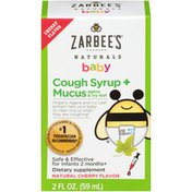 Zarbee's Naturals Baby Cough Syrup + Mucus, Agave & Ivy Leaf, Cherry