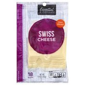 Essential Everyday Cheese, Swiss, Thin Sliced