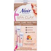 Nair Brazilian Spa Clay Total Care Face Trio Hair Remover