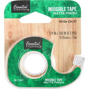 Essential Everyday Tape, Invisible, Matte Finish