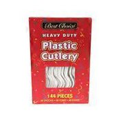 Best Choice Heavy Duty Plastic Cutlery