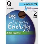 L'eggs Pantyhose, Medium Support, Control Top, Leg