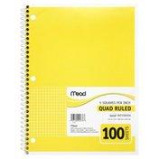 Acco B Mead Spiral Notebook Quad 10.5X8