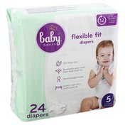 Baby Basics Diapers, Flexible Fit, 5
