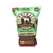 Primal Pet Foods Patties for Dogs Chicken Formula